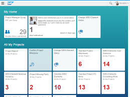 the new face of project execution sap hana fiori launchpad view