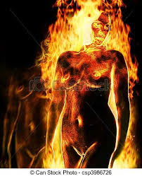 Image result for burning woman art