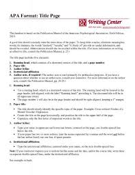 apa format title page example  how to write a paper in mla  apa format title page example