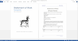 statement of work ms word excel template statement of work template red theme