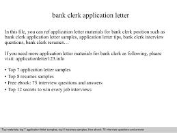 bank clerk application letterbank clerk application letter in this file  you can ref application letter materials for bank