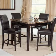 Marble Top Kitchen Table Set High Top Table Set Edgr3whiw 3piece Counter Height Dining Table