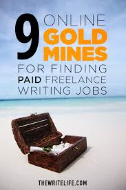 10 online gold mines for finding paid lance writing jobs to get