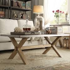 marble dining table adecc: aberdeen industrial zinc top weathered oak trestle coffee table by signal hills