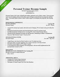personal trainer resume sample and writing guide   rgpersonal trainer resume sample