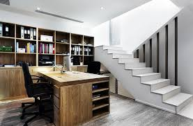 how to transform an old basement into a chic and functional home office basement home office home