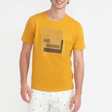BOSSINI Printed Tees Men No.51009600 Yellow | Central.co.th