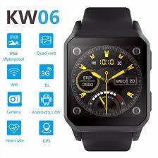 <b>RUIJIE</b> KW06 IP68 Waterproof GPS Smart Watch Android 5.1 ...