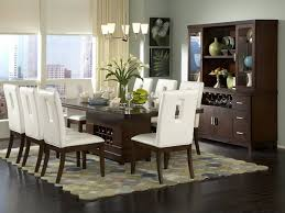 Contemporary Dining Room Design Wood Dining Table White Furniture White Chairs Top Decor Dining