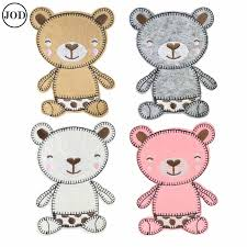 10 Pieces <b>Bear Patch</b> Iron on Children <b>Clothes</b> Applique for ...