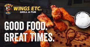Wings Etc. Grill & Pub® Menu | Wings Restaurant