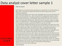 data analyst cover letter   data analyst cover letter sample