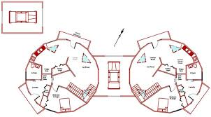 Kwickset Konstruction Kits  Geodesic Dome Home Floor Plans ft Dome Duplex First Floor Plan
