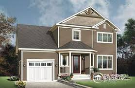 Story House Plans w garage from DrummondHousePlans comMeslay Transitional small home   functional open floor plan  large bedrooms and a