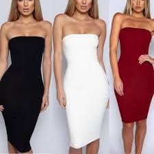 <b>Womens Dress Woman Clothes Sexy Women Solid</b> Boob Tube ...