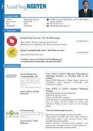 dang nguyen   cv for marketing assistant    cv for marketing assistant  page  personal details name  xuan dang