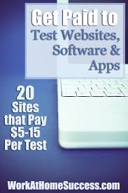telecommuting jobs work at home success get paid to test websites software apps