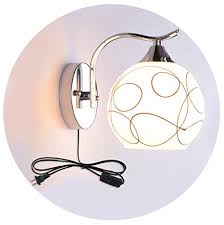 Wall Lamp with Plug in Switch <b>E27 Simple Modern</b> LED Living ...