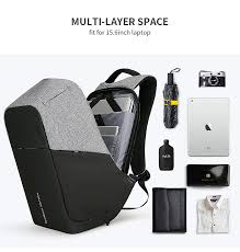 <b>Men's</b> Travel Backpack 15 Inch Anti Thief <b>Multifunction USB Charging</b>