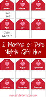 months of date night ideas your husband grab these printable tags to create your own set of 12 monthly date night ideas