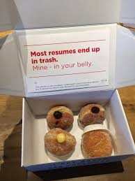 genius or desperate how one guy used donuts to land job interviews photo credit adweek