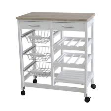 gray kitchen cart raskog home basics basket kitchen cart with  drawers and wine rack with shelf