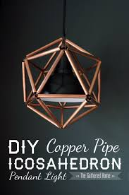 diy lighting ideas for teen and kids rooms diy copper pipe icosahedron pendant light awesome 15 task lighting