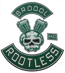 New Arrival BROOOL ROOTLESS MC Embroidered <b>Iron On Sew On</b> ...