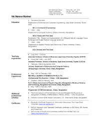 Sample Teacher Resume Examples   sample resume for teacher
