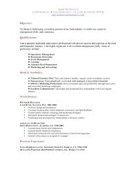 cover letter food industry template cover letter food industry