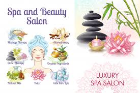 Free Vector | <b>Cartoon</b> spa salon colorful composition with <b>woman</b> ...