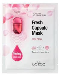 THE OOZOO тканевая <b>маска</b> Fresh Capsule Rose Petal с <b>капсулой</b> ...
