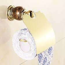 bathroom shelf rjade series rose antique marble polished toilet paper holder luxury gold plating copper