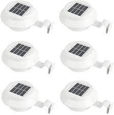 iSunMoon 6 Pack Gutter Solar Lights <b>Outdoor LED Gutter</b> Lights ...