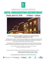 upcoming events hotel housekeeping recruitment economic hotel housekeeping recruitment spanish 4 15 16