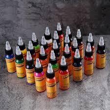 permanent tattoo <b>Professional</b> Tattoo Ink <b>16 Colors</b> 1oz /<b>30ml</b> Bottle ...