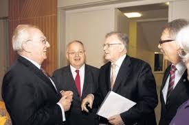 Landtagsabgeordneter Winfried Scheuermann, Günter Bächle, der für den Landtag kandidieren möchte, und der frühere Ministerpräsident Erwin Teufel. - 12658280040