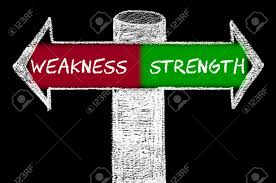 opposite arrows weakness versus strength hand drawing opposite arrows weakness versus strength hand drawing chalk on blackboard choice conceptual