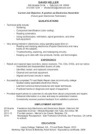 no college degree resume samples archives   damn good resume guideachievement sample resume electronics assembler