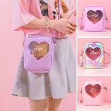 Bentoy Hologrem Diamonds Girls <b>Messenger Bag Heart Handbags</b> ...