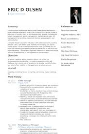 event manager resume samples   visualcv resume samples databaseevent manager resume samples