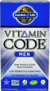 Garden of Life <b>Vitamin Code</b>® <b>Men</b> RAW -- <b>240</b> Vegetarian Capsules