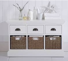 white storage unit wicker: wicker wickerman white hand painted  basket low storage unit