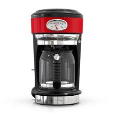 Russell Hobbs <b>Retro Style</b> 8-Cup Red Stainless Steel Drip <b>Coffee</b> ...