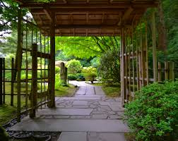 rainy day at portland s ese garden photo essay peregrination wisteria trunk weeping stone ese gate
