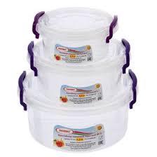 Набор <b>контейнеров</b> пищевых, 3 шт: <b>300 мл</b>, 600 мл, 1,2 л ...