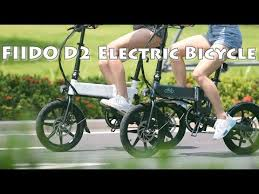 <b>FIIDO D2 16 Inch</b> Folding Power Assist Electric Bicycle - YouTube