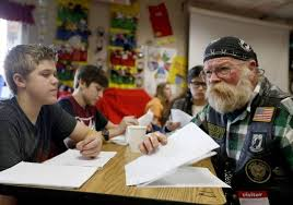 veterans offer perspectives for kennewick student essays  tri  combat veteran dan ramsey of othello who served in vietnam with the navy from