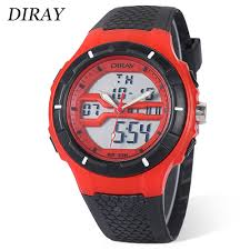 DIRAY DR - 333AD Children Dual Movt Sports Watch Red Kids ...