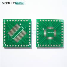 <b>5PCS QFP</b>/<b>TQFP</b>/<b>LQFP</b>/FQFP/SOP/SSOP32 לטבול מתאם PCB לוח ...